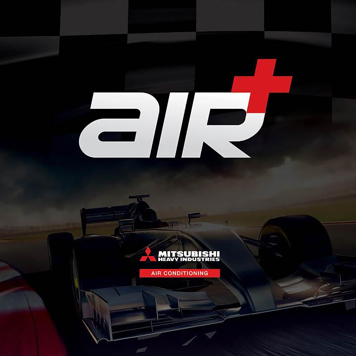 Mitsubishi Air + logo design for promotional assets | Trade Advertising