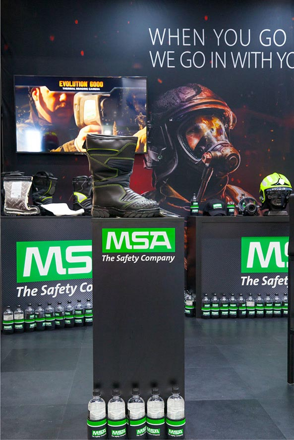 MSA Fire – Exhibition display Stand | Trade Advertising