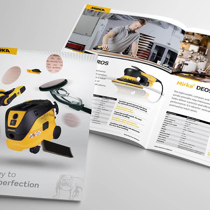 Tenaru – Mirka Brochure – Trade brochure designed by Trade Advertising