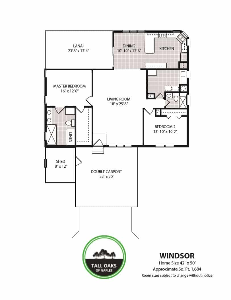 Naples, Florida 34113, 2 Bedrooms Bedrooms, ,2 BathroomsBathrooms,Manufactured Home,Floor Plan,1017