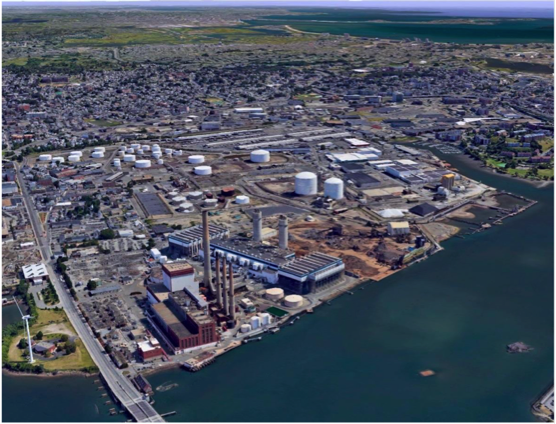 Description: Picture of the current Mystic Generating Station in Everett, MA