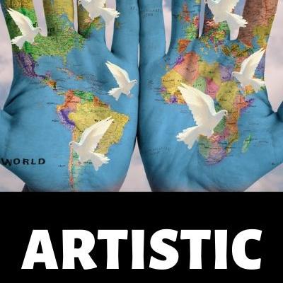Artistic World Map by BestWorldMapWallArt.com