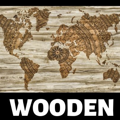 Wooden Map Wall Art by BestWorldMapWallArt.com