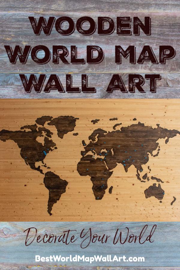 Wooden Map Wall Art by BestWorldMapWallArt.com