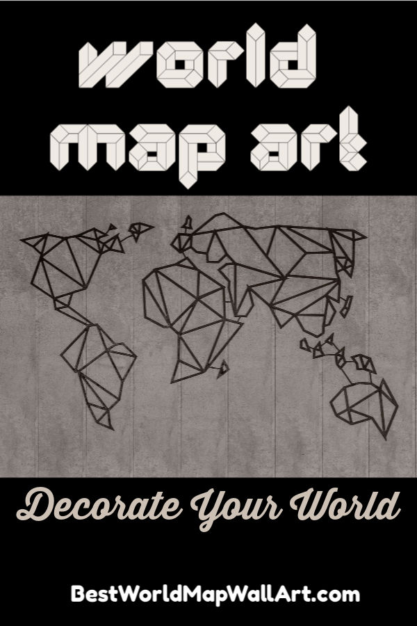 World Map Art by JetSettingFools.com
