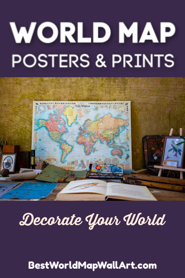 World Map Prints by BestWorldMapWallArt.com