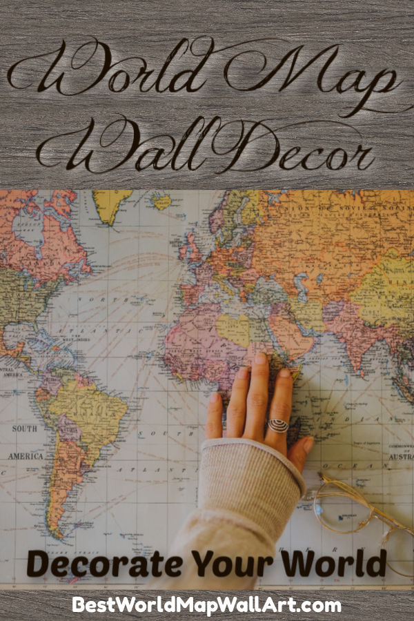 World Map Wall Decor by JetSettingFools.com