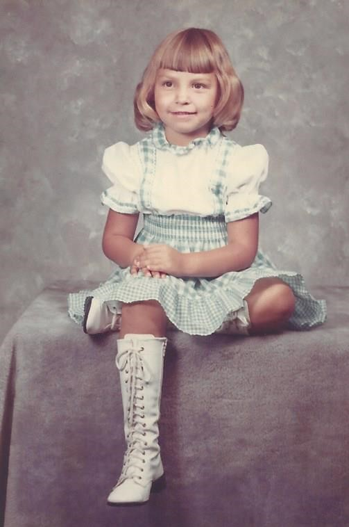 Gina the author of Southern Girl Flare as a child
