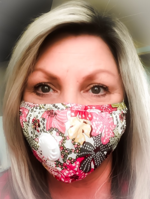 Gina White - Author wearing medical mask