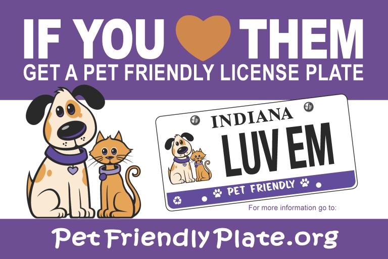 Pet Friendly License Plate