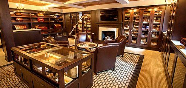 Interior of a Cigar Lounge