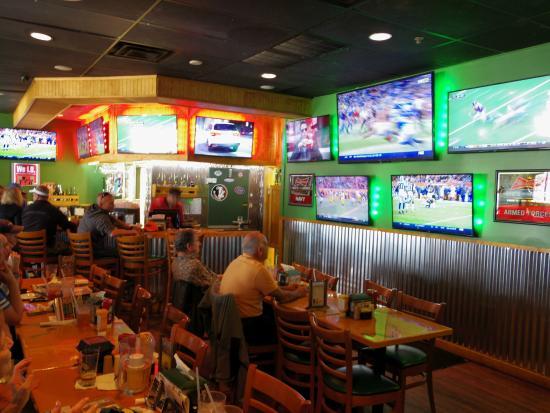 Interior of sports bar