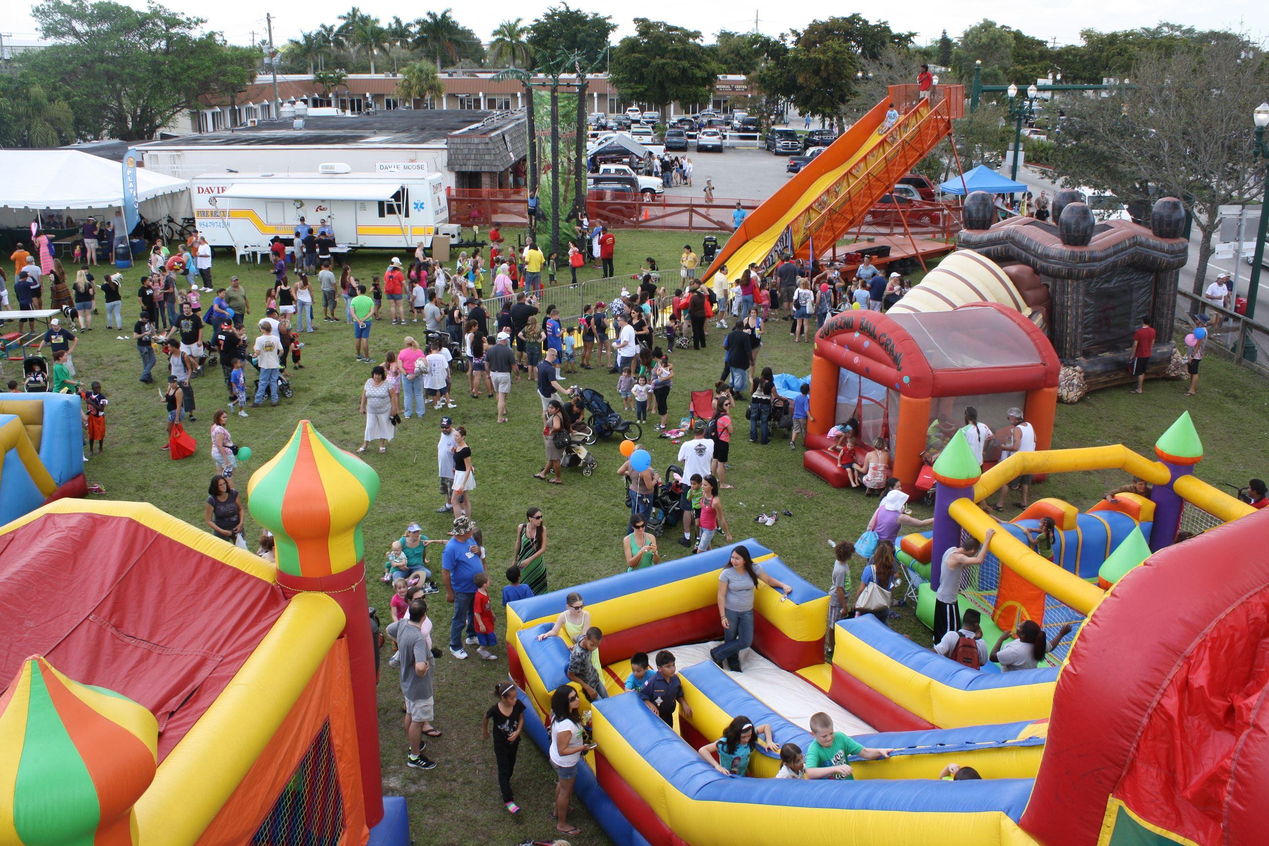 Slides and games at Orange Blossom Festival