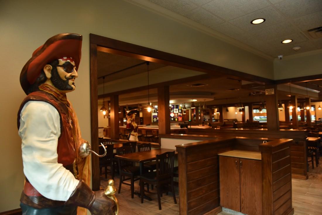 Interior of Pirate Republic Restaurant