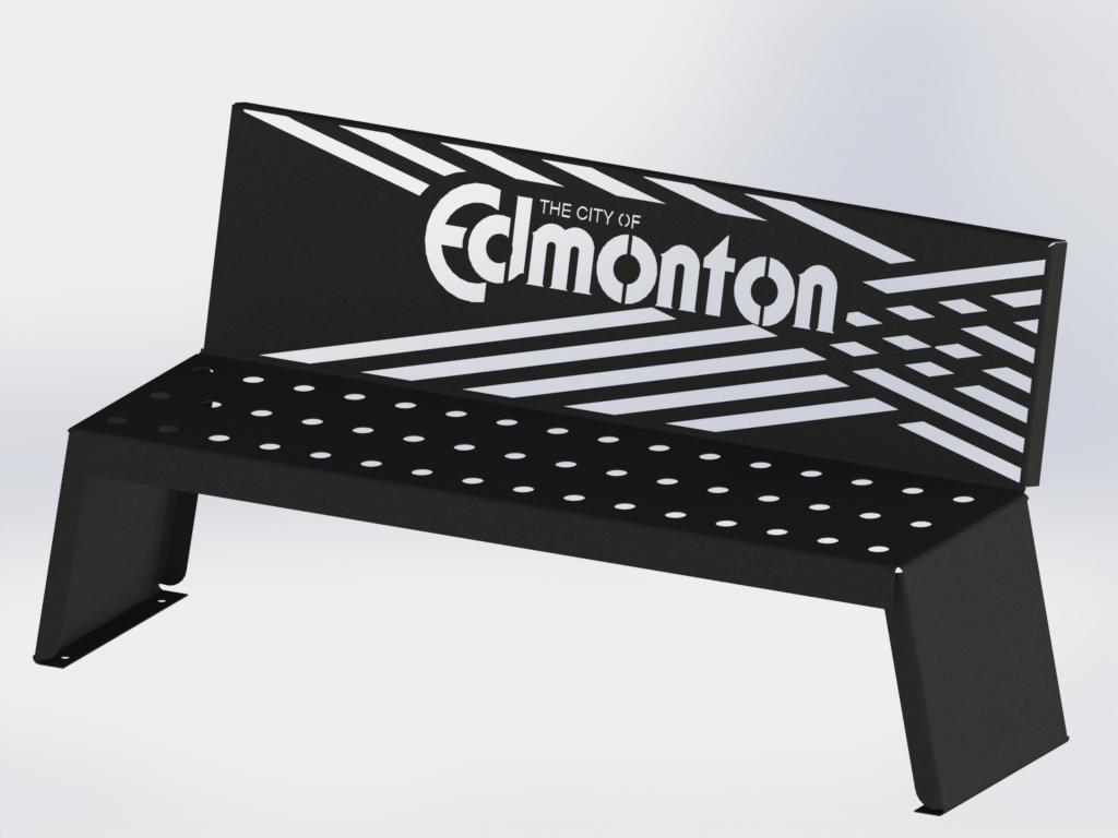 Custom Park Bench - City of Edmonton