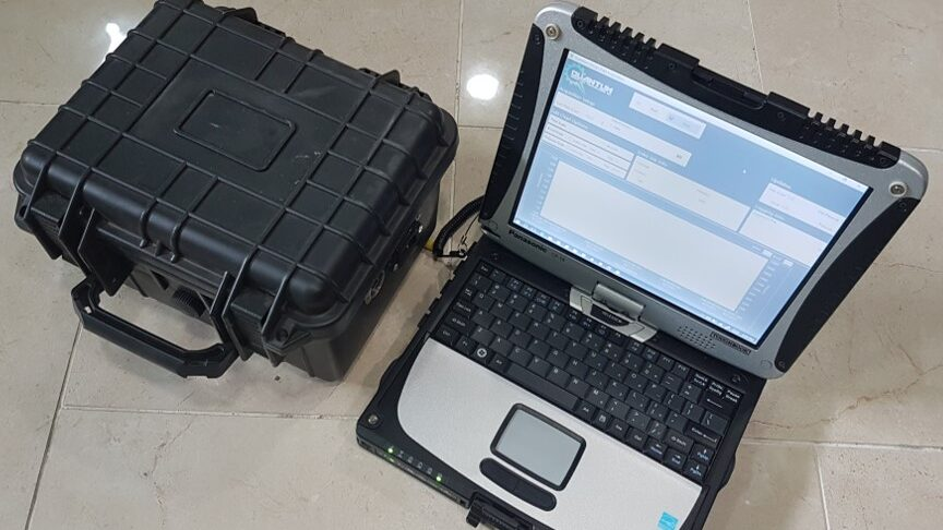 Each Well Whisperer comes pre-packaged with a laptop to easily monitor and record well data