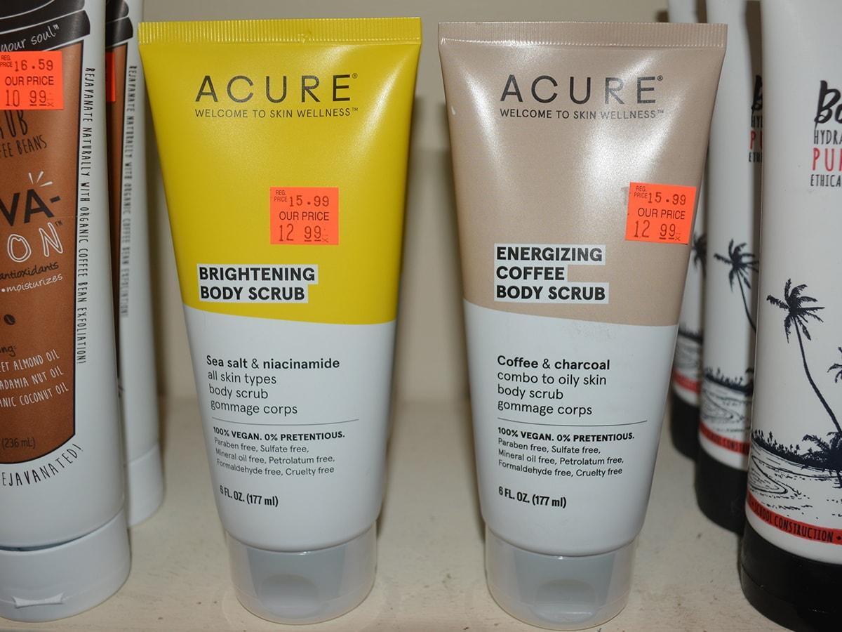 Acure Energizing Brightening Body Scrubs