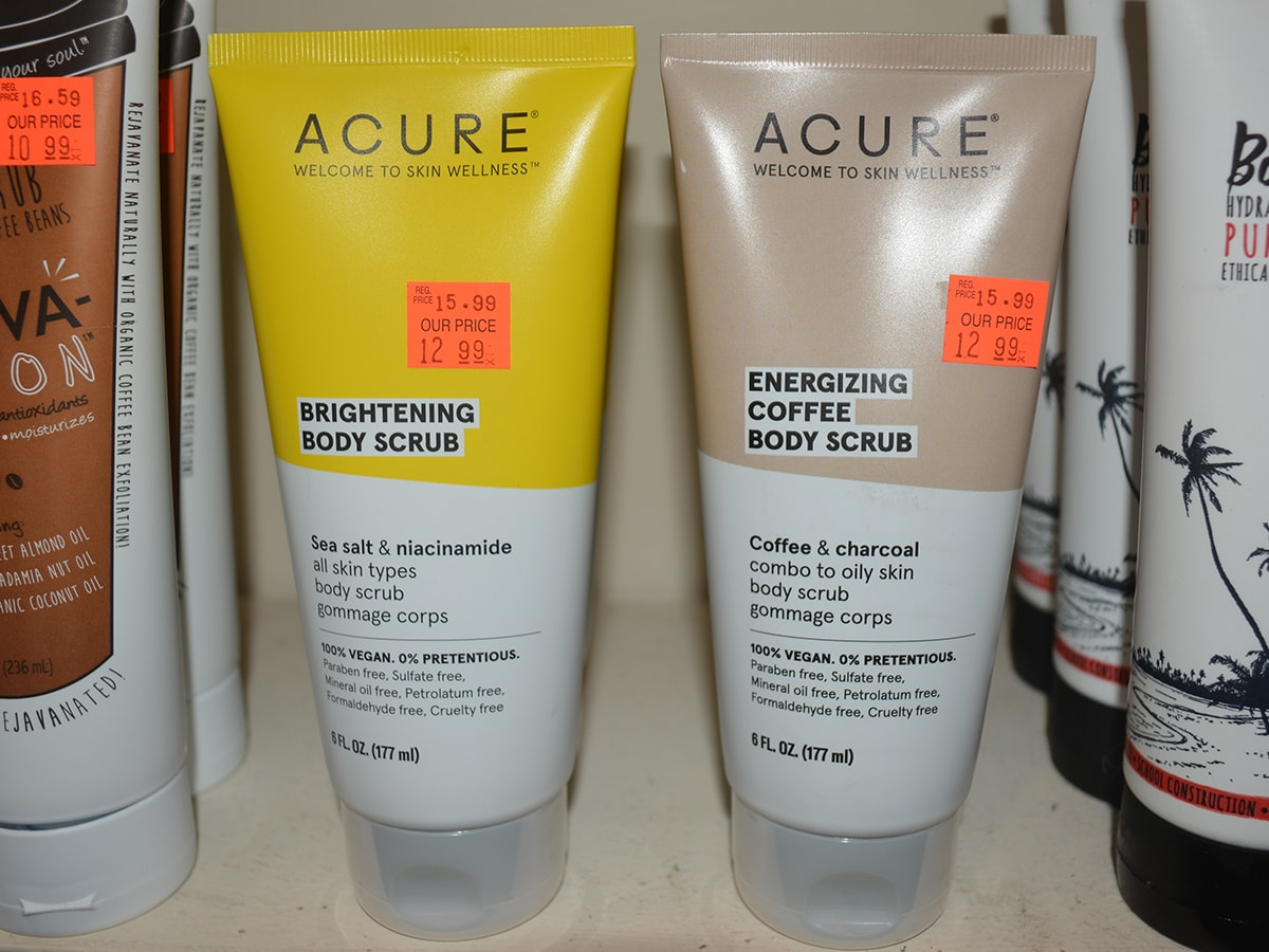 Acure Energizing Brightening Body Scrubs