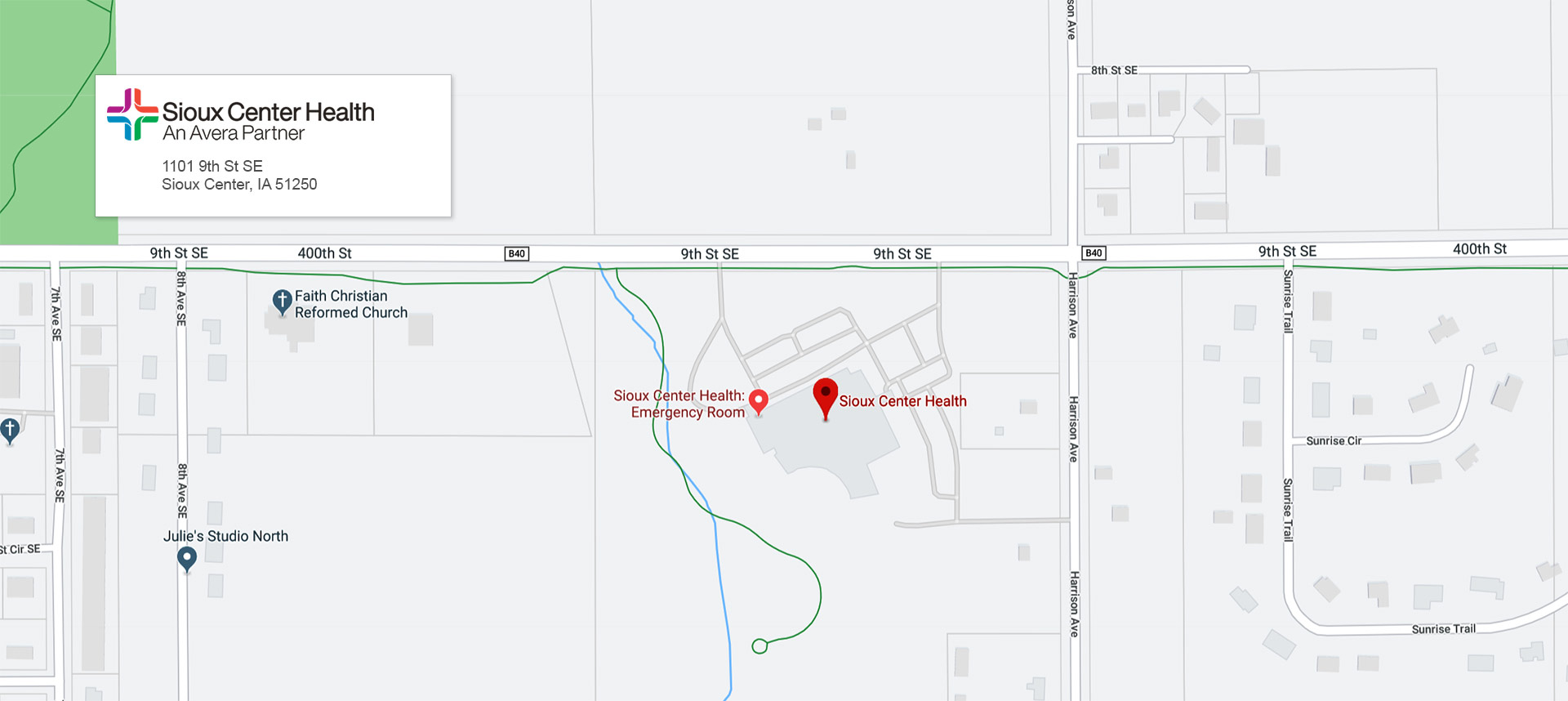 Sioux Center Health Map