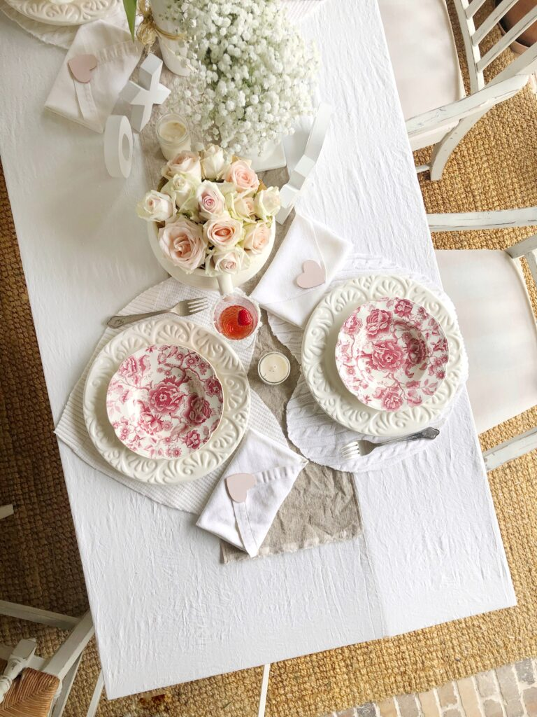 Galentine's Brunch tablescape