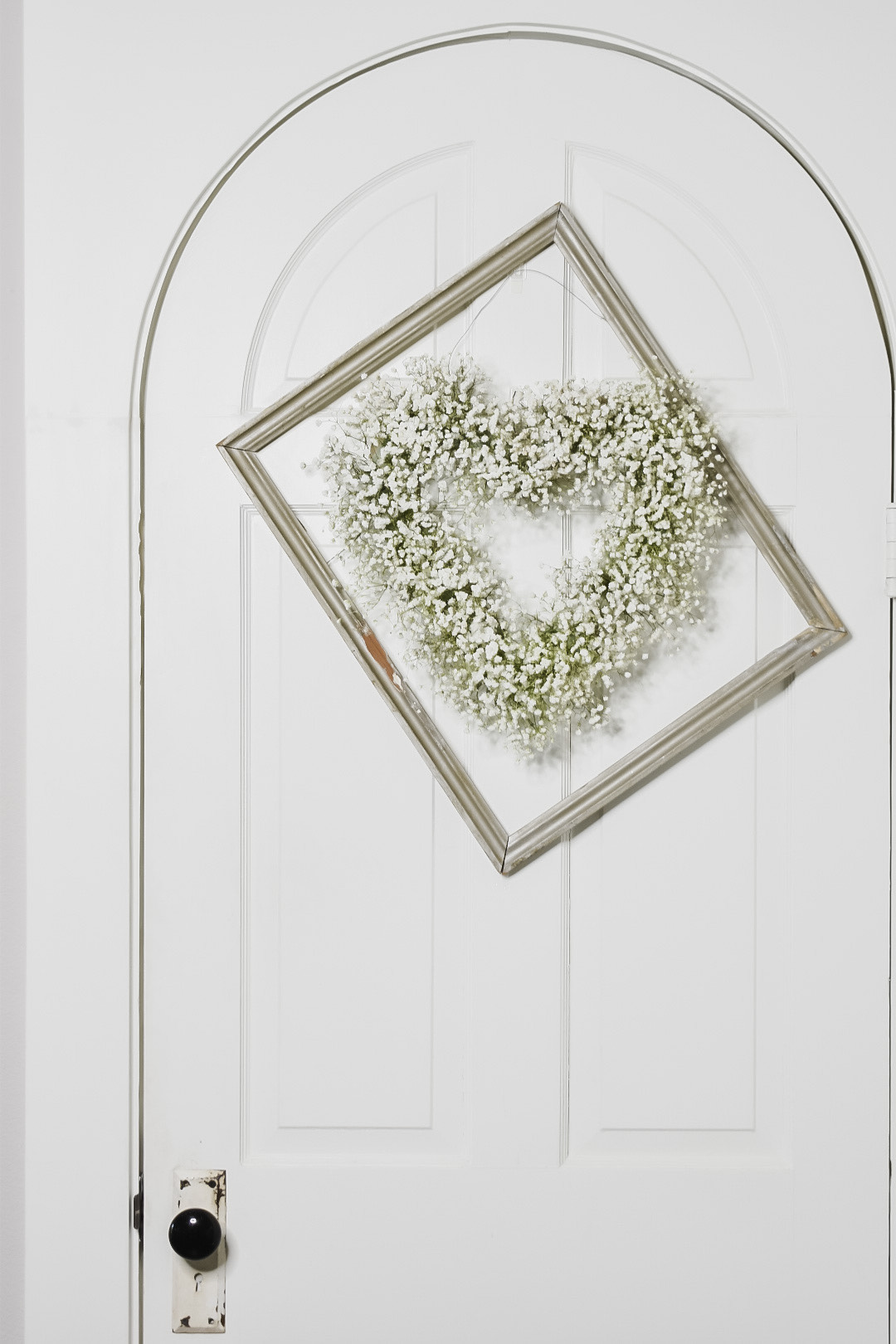Heart Wreath with Baby's Breath