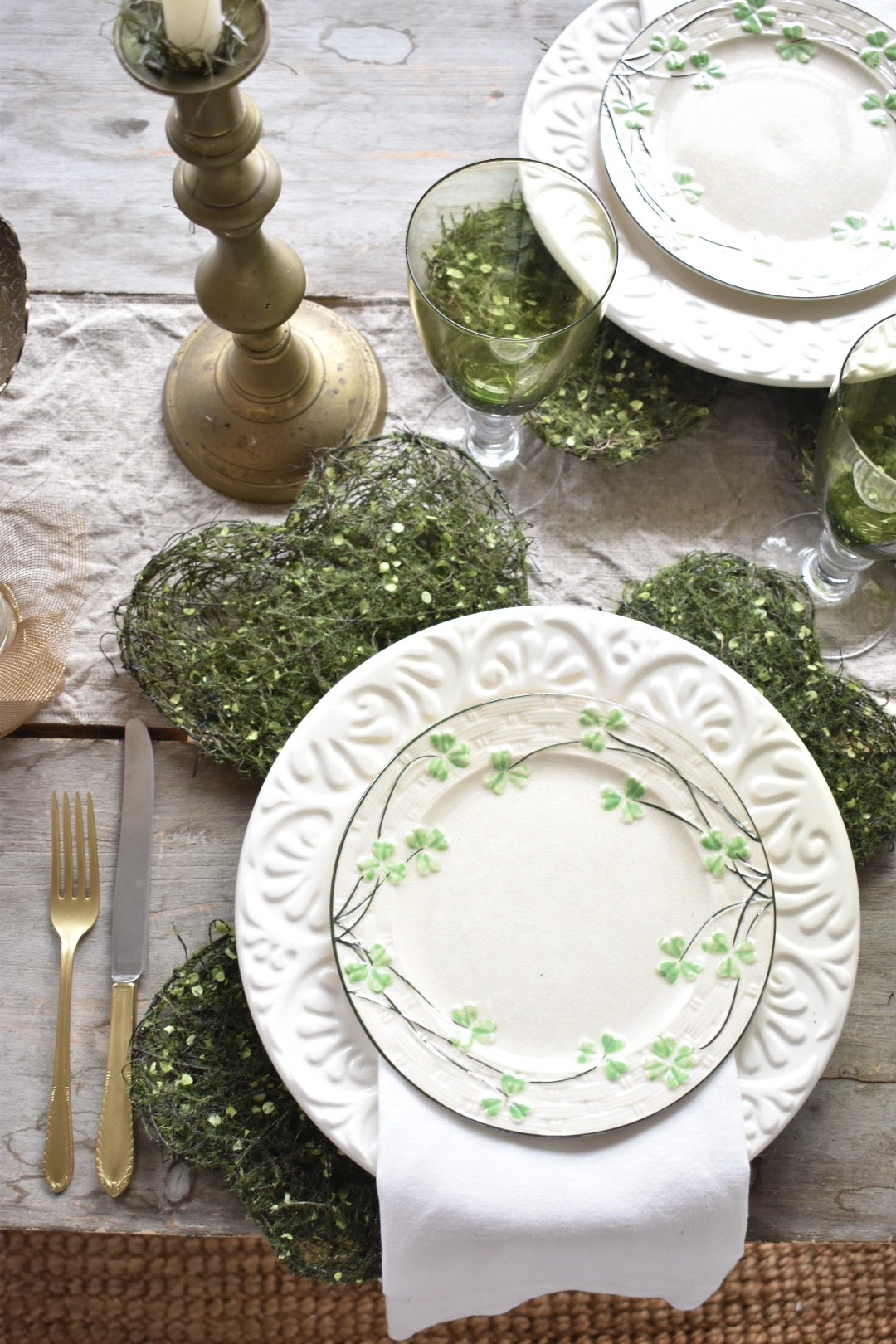 St. Patrick's Day place setting