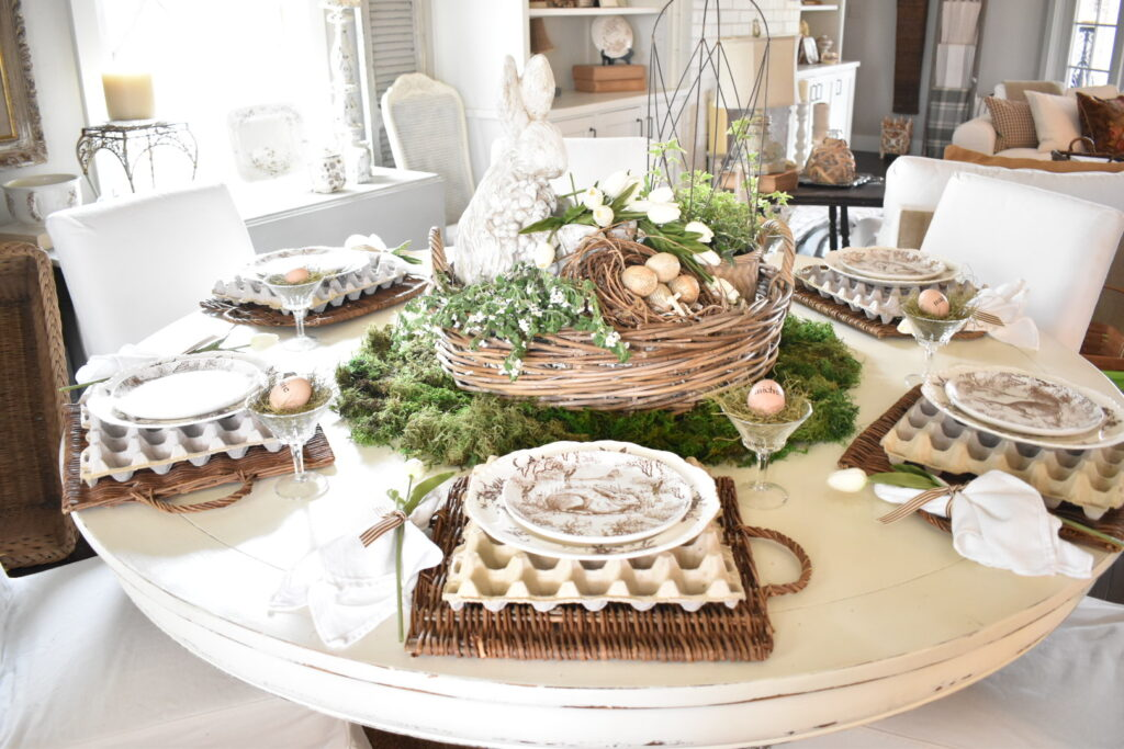 spring inspired tablescape