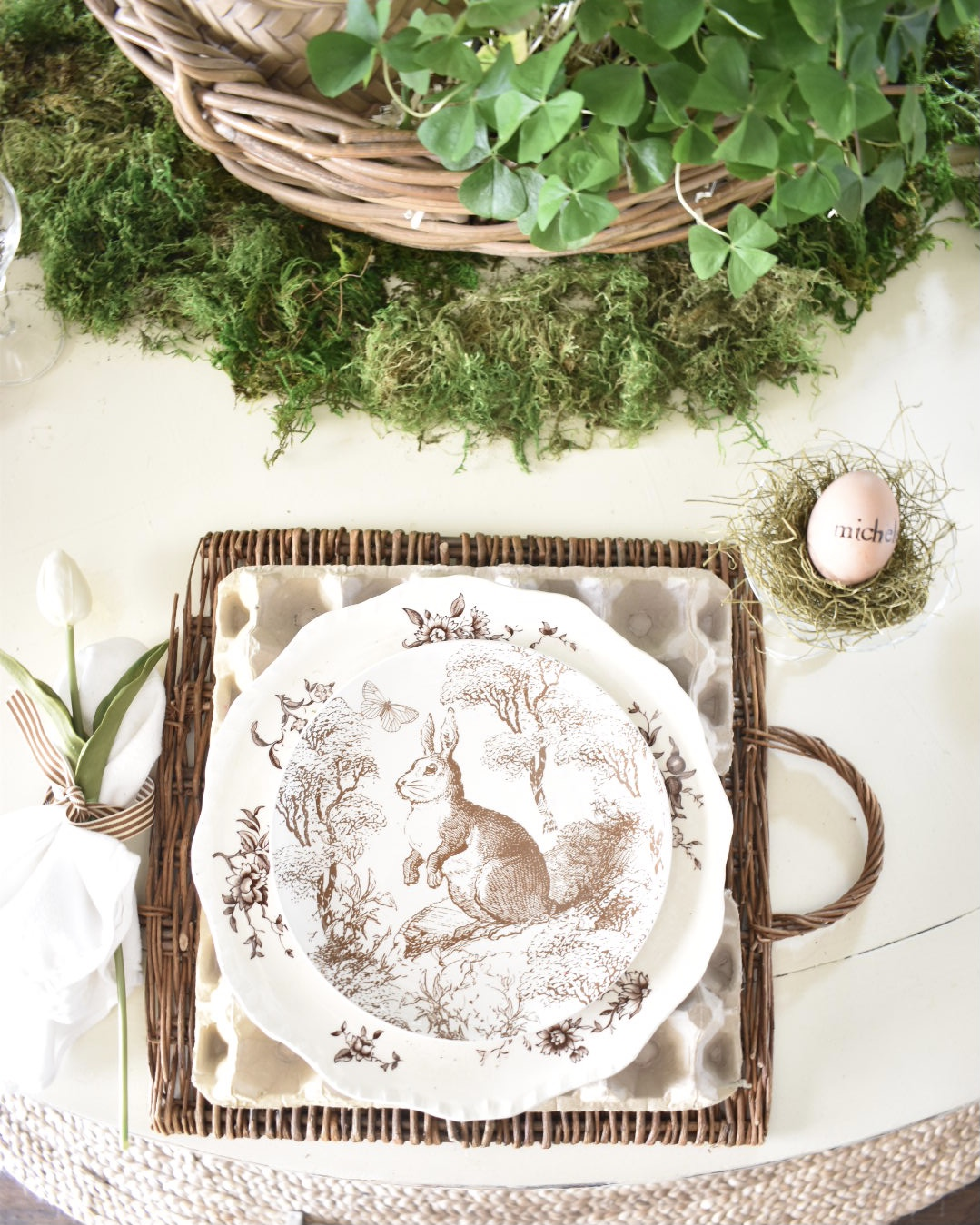 spring inspired place setting