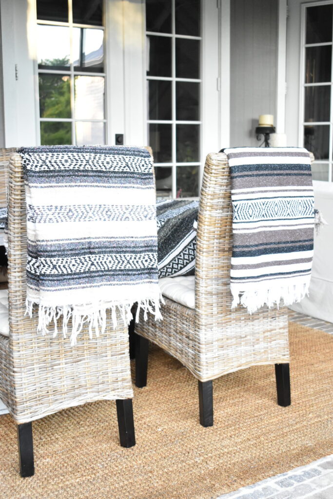 mexican blanket for a tablecloth