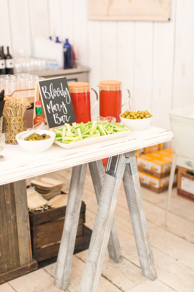 bloody mary and mimosa bar