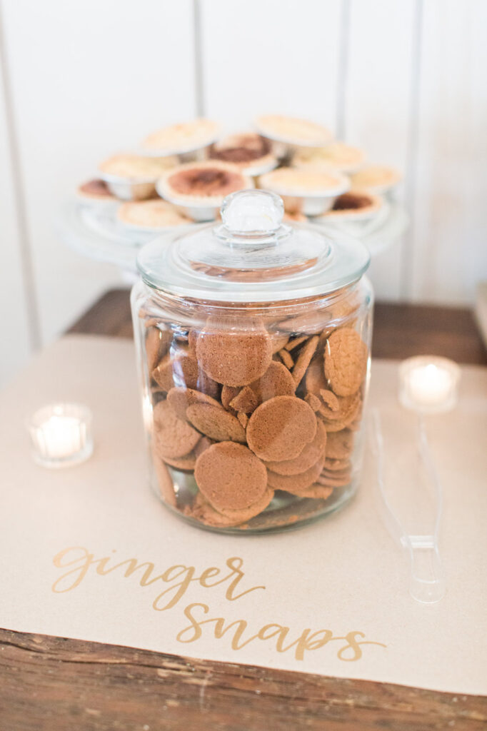 glass jar filled with ginger snaps