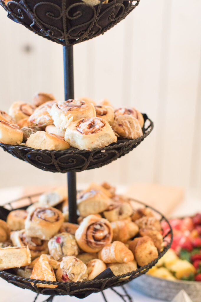 pastries for a brunch themed wedding reception