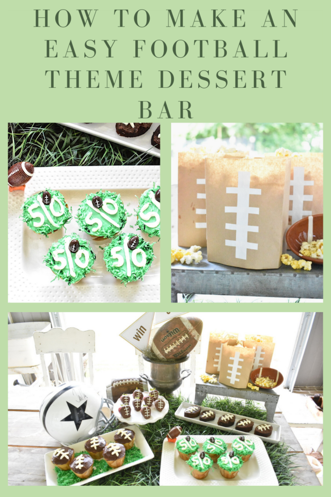 Pinterest photo with several football themed desserts