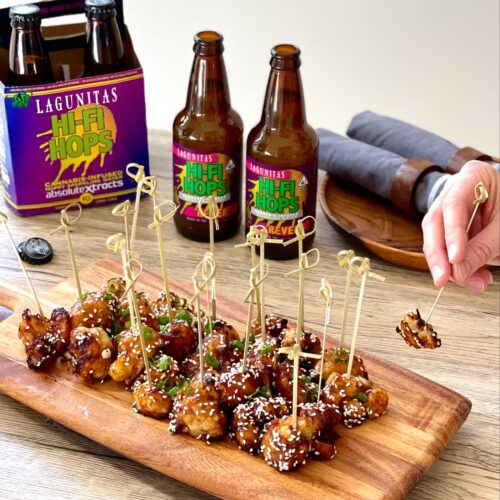 Super sticky Sesame Cauliflower Paired with ABX Hi-Fi Hops