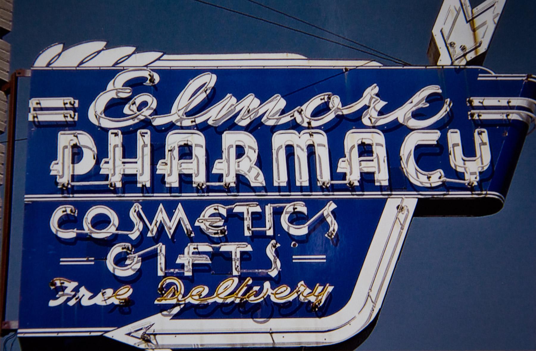 1990's Elmore Pharmacy's Iconic Sign