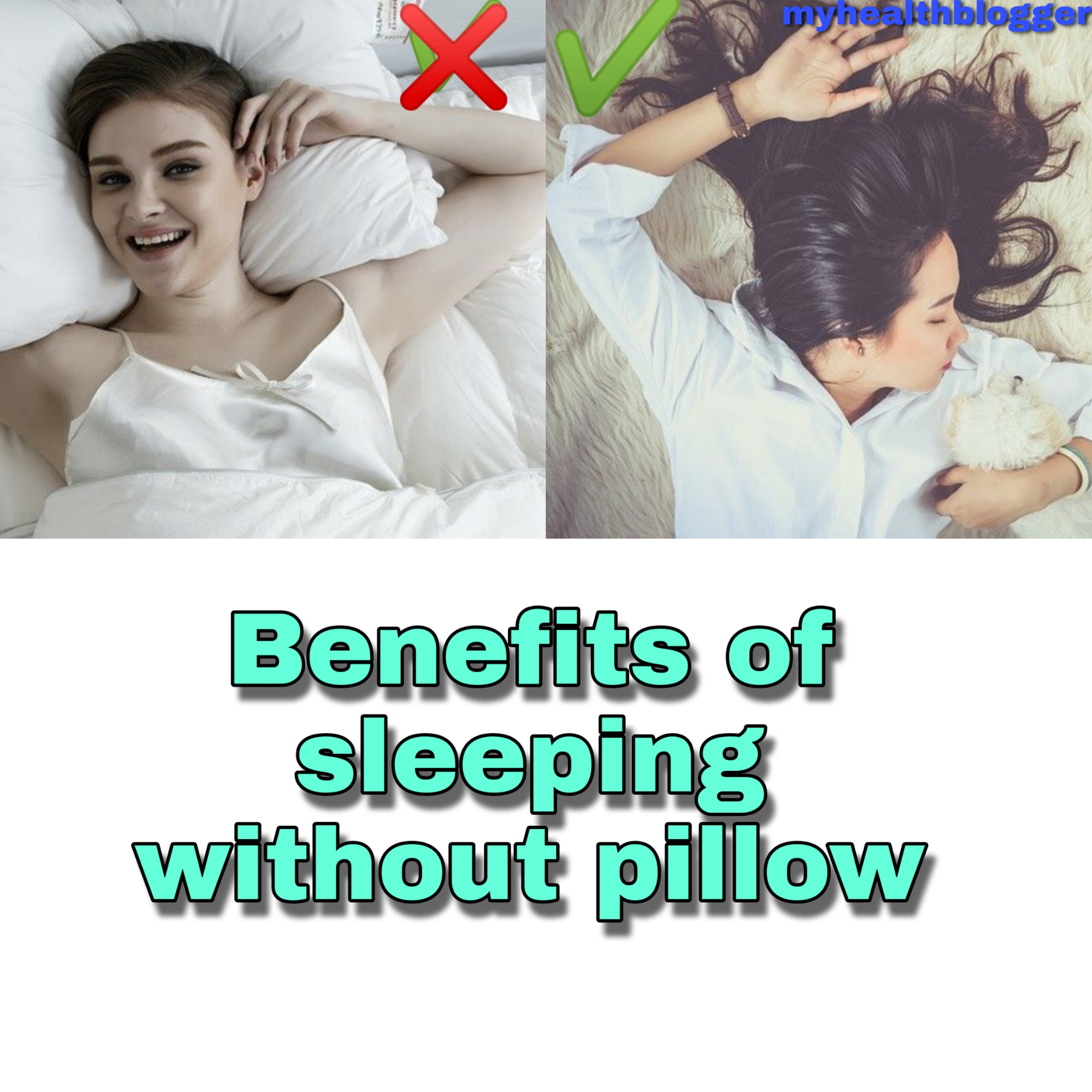 Benefits of sleeping without pillow