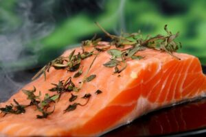 salmon fish in reducing belly fat