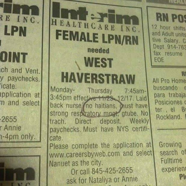 New York job listing paper