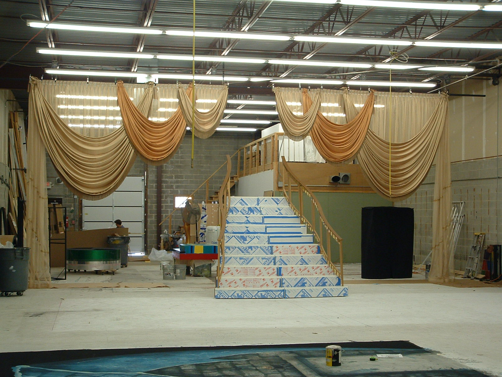 drapes and stair set