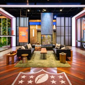 NFL Films - Set Fireplace