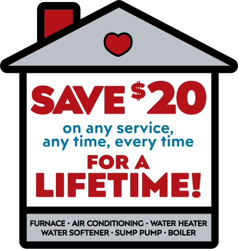 Save $20 on any service, any time, every time for a lifetime!