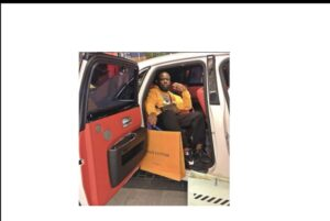 Hushpuppi in one of his Luxurious Vehicles