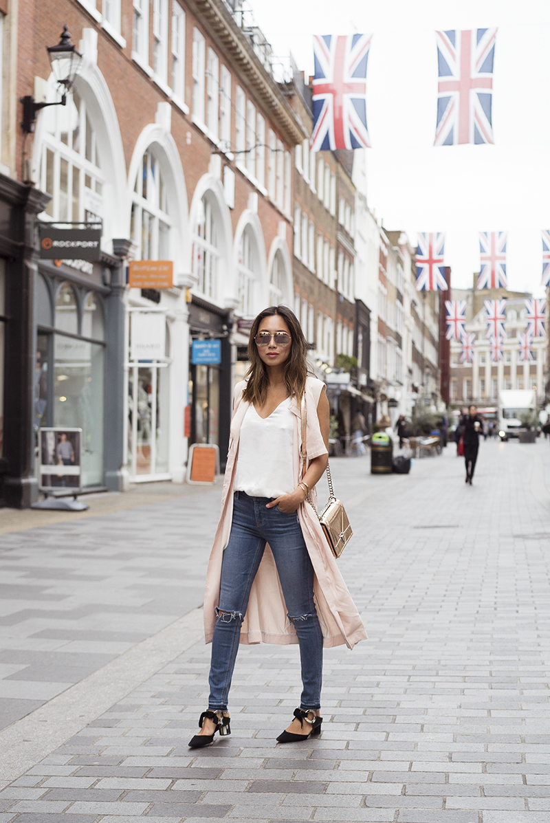 aimee_song_of_style_two_songs_pink_sleeveless_trench_coat_proenza_schouler_shoes_dior_split_sunglasses