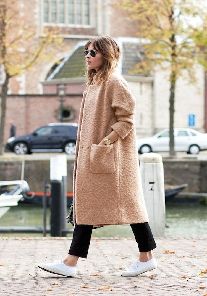 le-fashion-blog-neutral-ganni-textured-camel-coat-cropped-black-pants-white-sneakers-fall-style-via-fash-n-chips