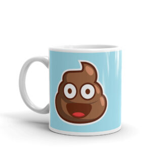 Poop Emoji Mug (blue)