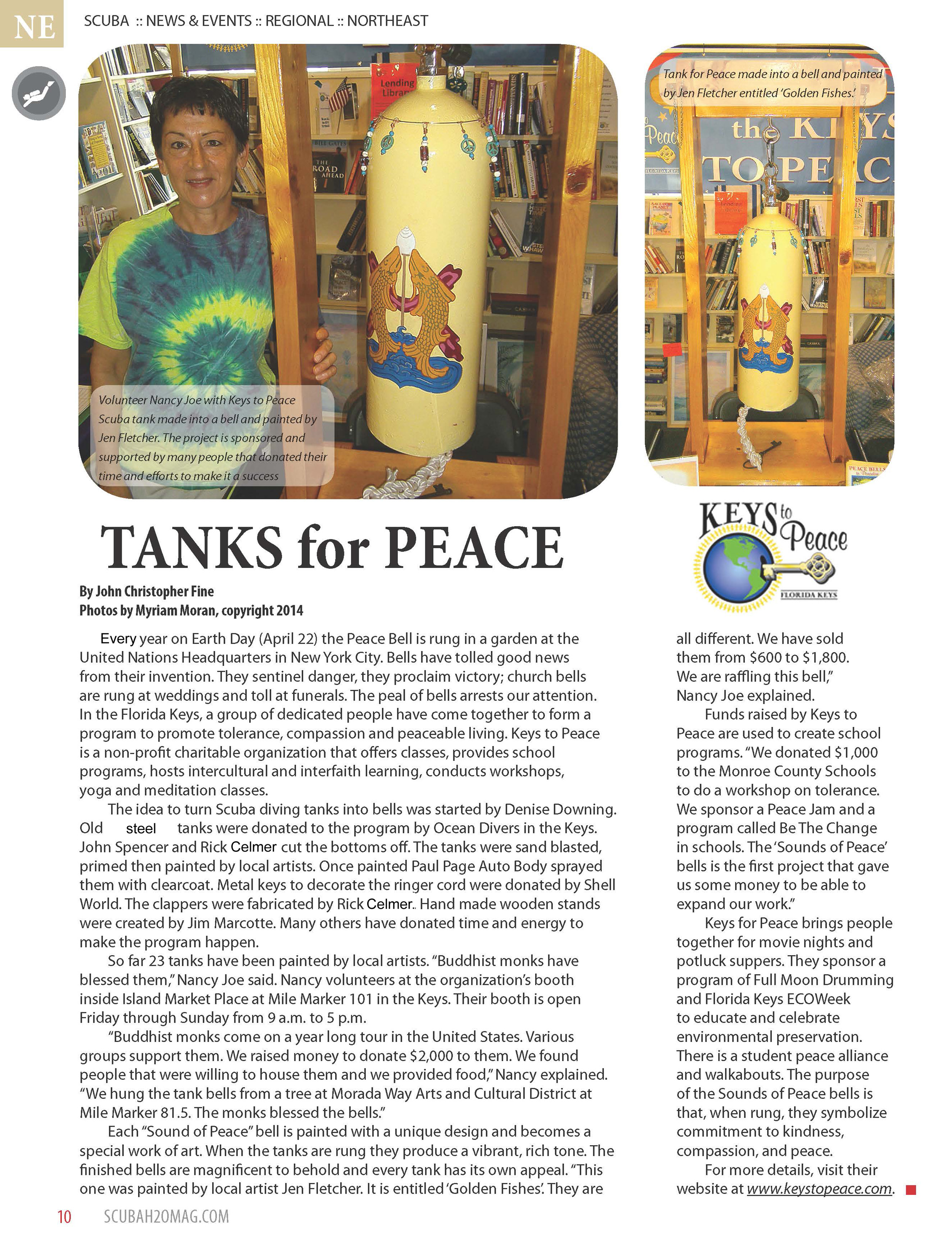 Scuba H20 Mag article