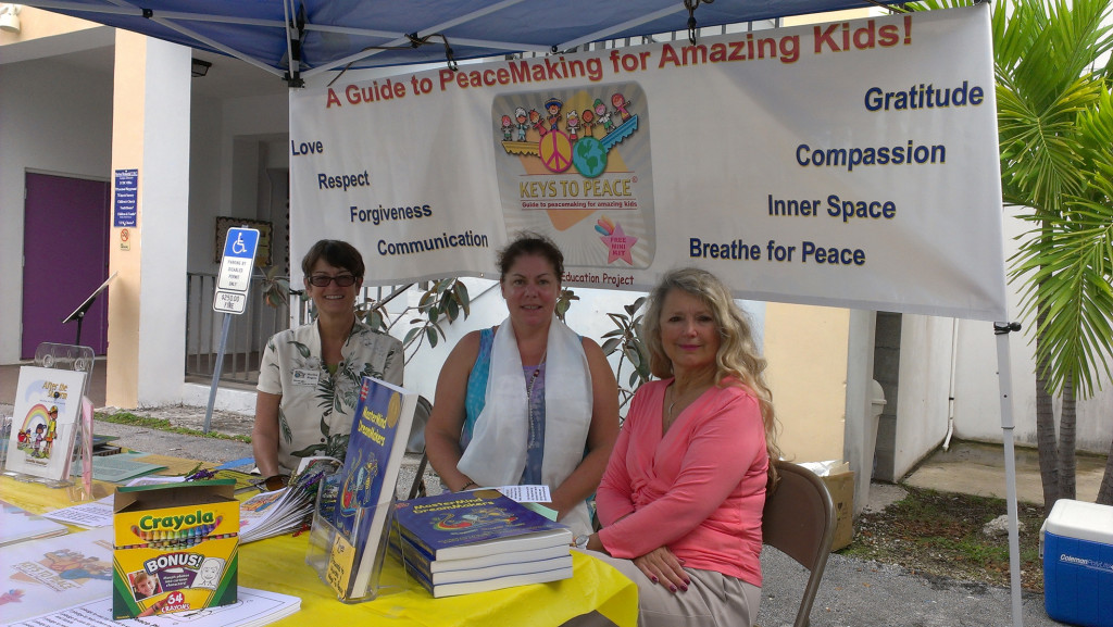 Peacemaking for Amazing Kids booth at Burton Memorial