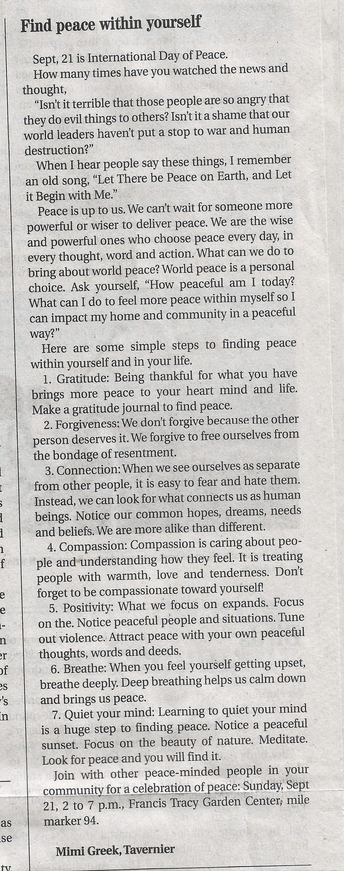 Free Press article Sep 17, 2014
