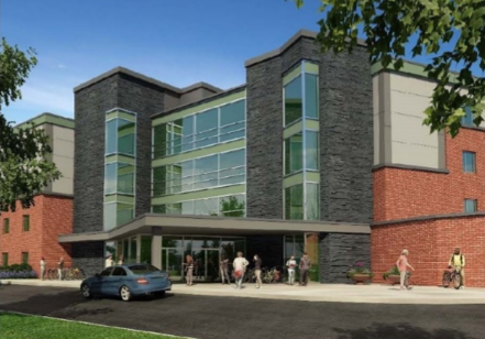 New Residence Hall with sustainability goals for daylight, energy savings, water conservation, wellness and waste reduction- LEED project. Design Build Project. Programming focused on Bridging documents. Sustainability goals for the project Focus on Materials, Energy, Waste, and Wellness
