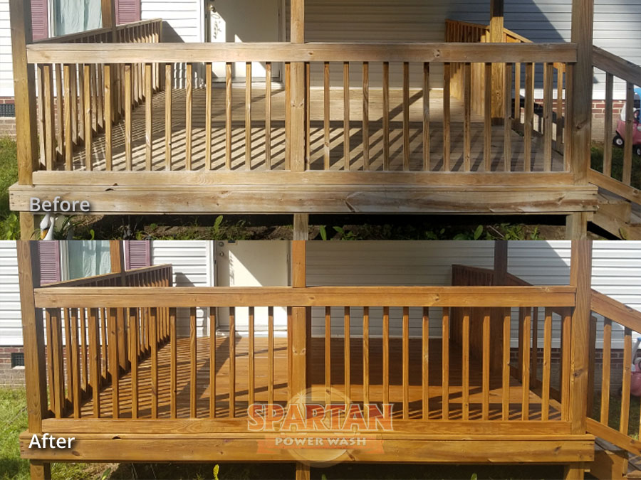 Wood Deck Cleaning Restoration Columbia SC